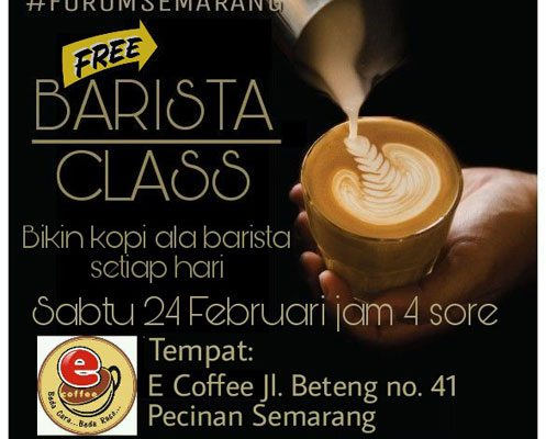 Forum Semarang : Barista Class, Bikin Kopi Ala Barista Setiap Hari