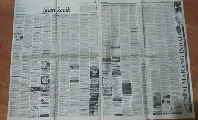 Membaca Iklan Kecik Dengan Teliti