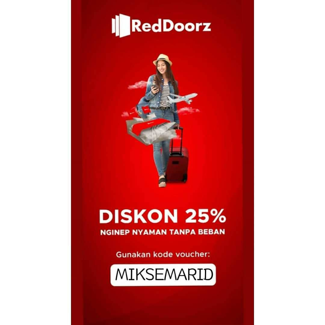 Pakai Kode MIKSEMARID, Dapatkan Diskon 25% Nginep di Reddoorz