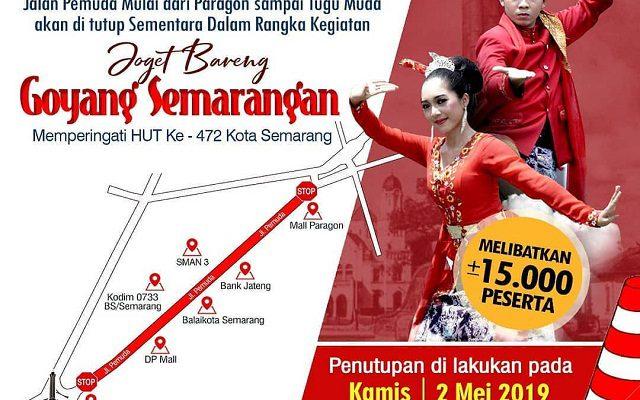 Penutupan Jalan Event Joget Bareng Goyang Semarangan