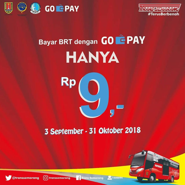 Bayar BRT Dengan GO Pay Hanya Rp. 9,-