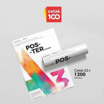 Promo Cetak Poster A3+ CTS Hanya di Cetak100