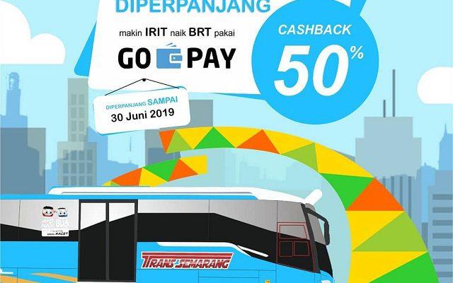 Bayar BRT Trans Semarang Pakai GOPAY, Cashback 50%