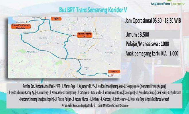 Rute Trans Semarang Koridor V, Bandara Ahmad Yani - Meteseh